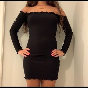 Forever 21 Black Off The Shoulder Dress